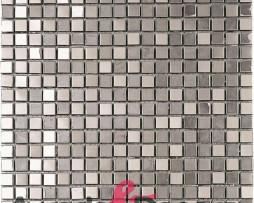 mosaico in acciaio inox METALIC SILVER dune 1