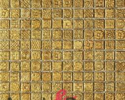 mosaico in gress porcellanato effetto oro KARAT dune 1