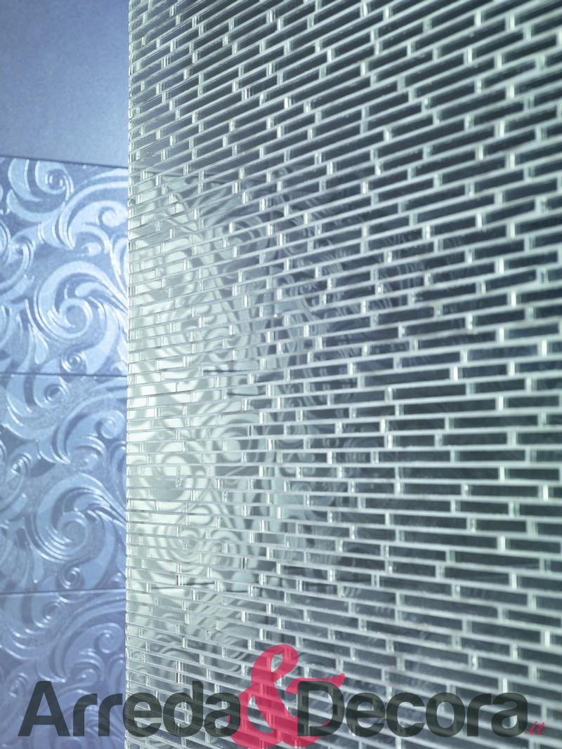 Mosaico in vetro effetto specchio mod glass mirror - Specchio mosaico vetro ...