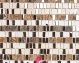 mosaico in vetro specchio e pietra mod. TRESOR dune 1
