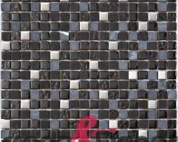 mosaico in vetro nero