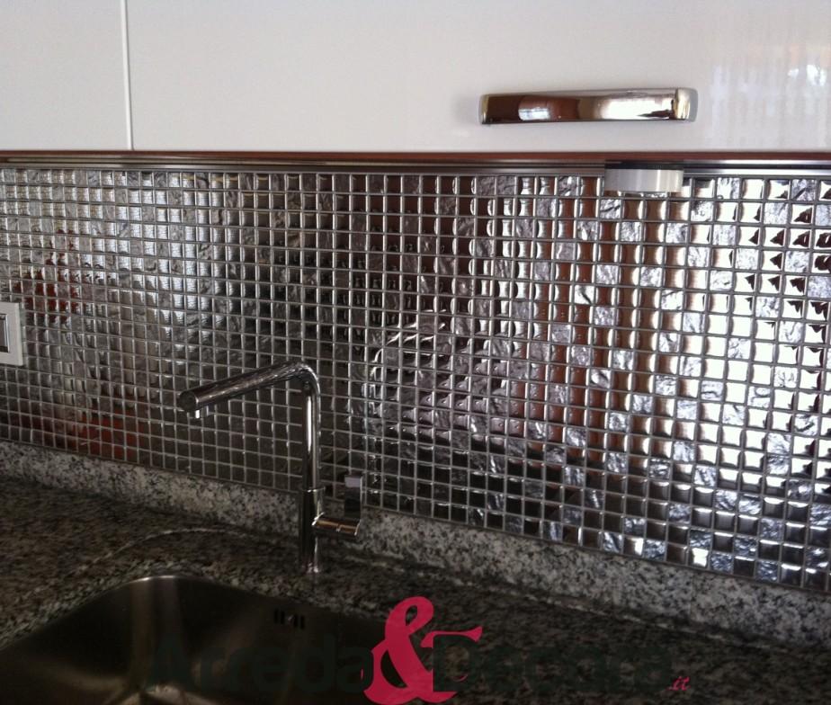 Mosaico in vetro serie elegante mod silver - Top cucina mosaico ...