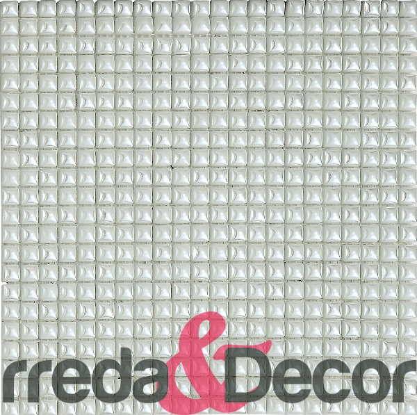 mosaico rosa perlato : ... tessere / 10x10 mm / Mosaico in vetro 1X1 Serie Royal mod. White