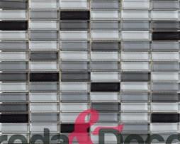 mosaico grigio in vetro