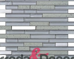 mosaico irregolare bianco agglomerato