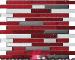 mosaico irregolare rosso agglomerato
