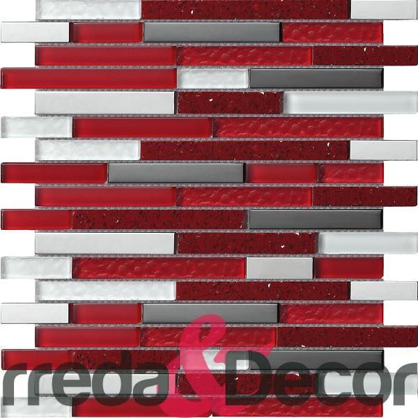 Bagno moderno mosaico rosso [tibonia.net]