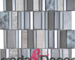 mosaico rettangolare grigio particolare