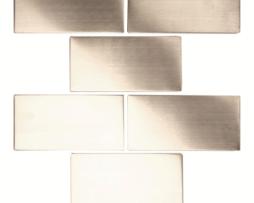 Mosaico in Acciaio mod Argento Spazzolato Chasseur EW-CHABBB
