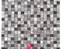 Mosaico in Alluminio Spazzolato  mod. Mix Argento MEMI29