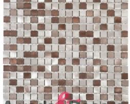 Mosaico in Alluminio Spazzolato  mod. mix Taupe MEMI32