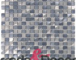Mosaico in Alluminio mod. Argento:Blu MEMI01