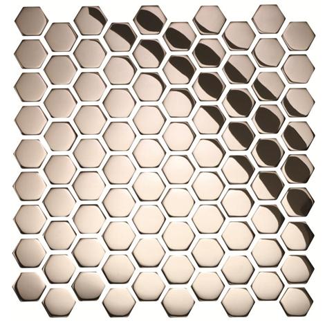 rivestimenti nido dape : ... / Irregolare / Mosaico in Acciaio mod. Nido d?Ape Lucido EW-DRGPH