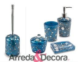 accessori bagno conchiglie mare azzurra antille cipi