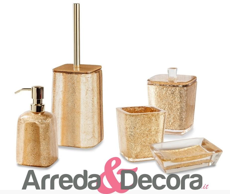 Accessori bagno foglia oro for Bagno d oro