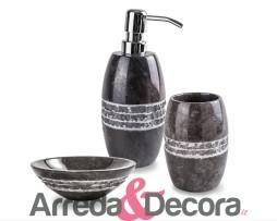 accessori in marmo bagno cipi merapi nero