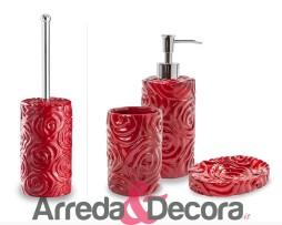 dispenser con fiori rosso baccarat cipi