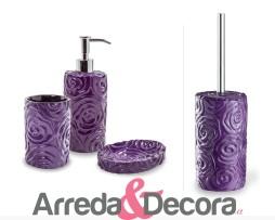 dispenser con fiori viola baccarat cipi