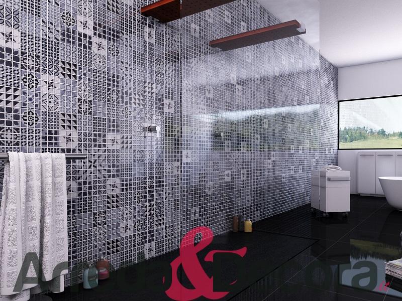 Bagni Blu Mosaico : Pop up il mosaico facile di fap ceramiche
