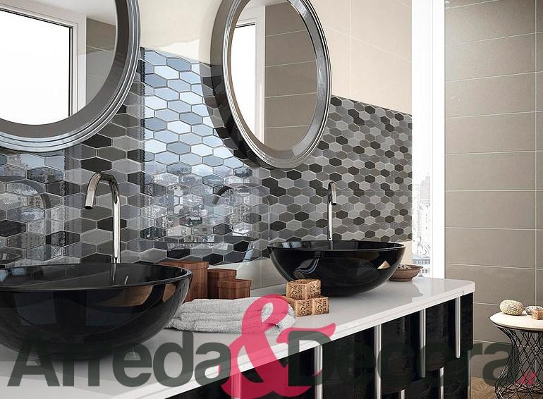 Mosaico elegante particolare in vetro per rivestimento