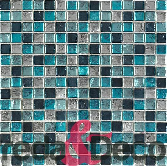 Mosaico in vetro serie lyra blu for Mosaico vetro bagno
