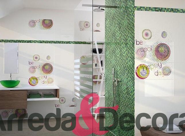 bagno mosaico verde  fatua for ., Disegni interni