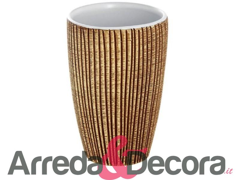 Set 4 accessori in ceramica e acciaio mod tiger beige - Tiger accessori bagno ...