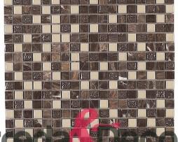 Mosaico in vetro e pietra marrone e beige Avalon