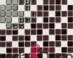 Mosaico in vetro e pietra mix Bongo