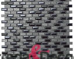 Mosaico in vetro e pietra nero Namia