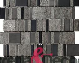 Mosaico in vetro e pietra nero Teide