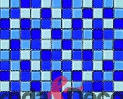 mosaico in vetro malla cristal azul brillo