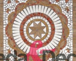rosone giglio noce 66x66