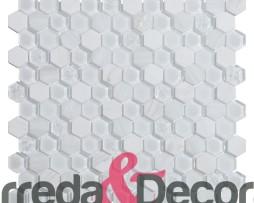 mosaico esagonale bianco mix