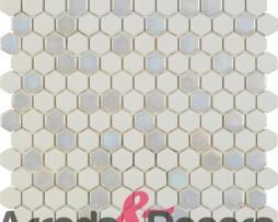 mosaico esagonale bianco tango