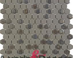 mosaico esagonale silver