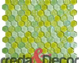 mosaico esagonale verde pisello