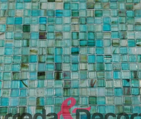 Mosaico in vetro multi color verde e blu mod juvela gw juvmos - Bagno mosaico verde ...