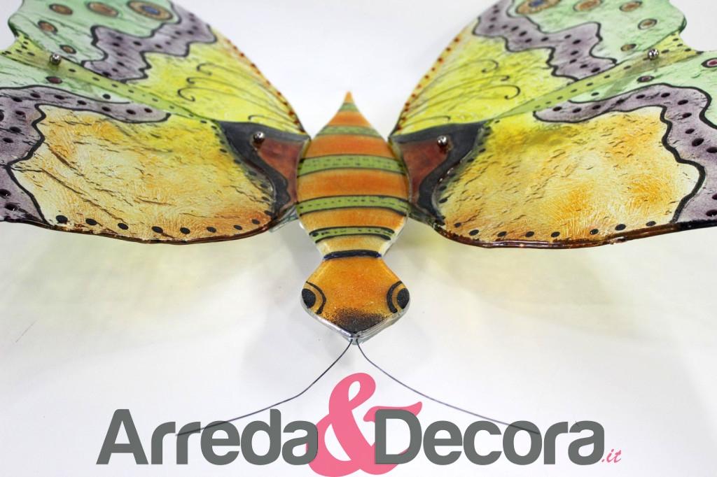 applique in vetro a forma di farfalla