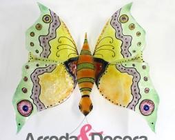 farfalla in cristallo a mano