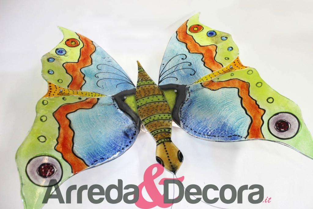 plaffoniera vetro farfalla unica