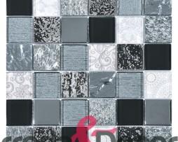 mosaico grigio nero rettangolare 1