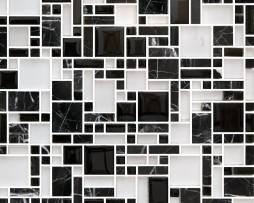 mosaico nero labirinto