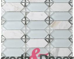 mosaico rombo bianco