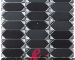 mosaico rombo nero