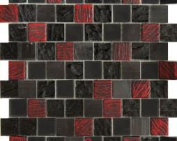 mosaico rosso e nero