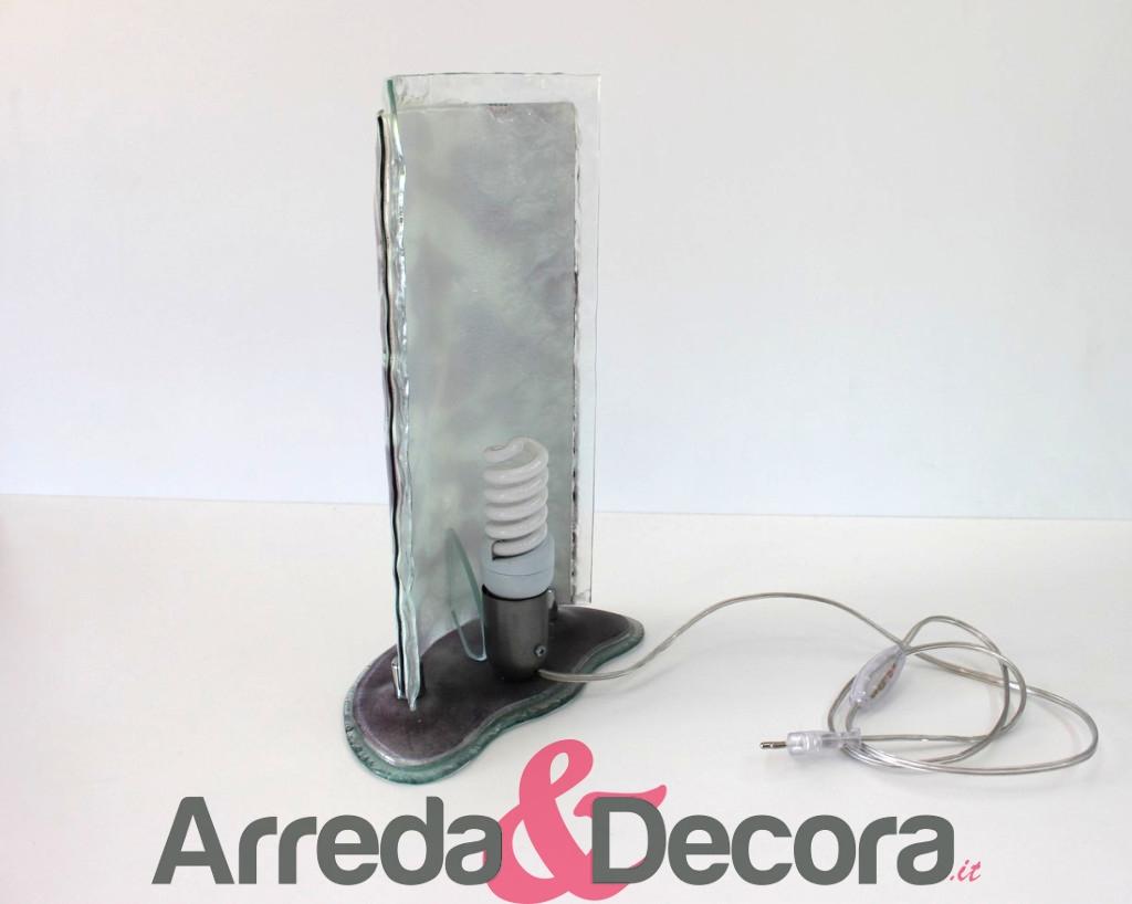 lampada floreale viola 2