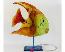lampada pesce arancione