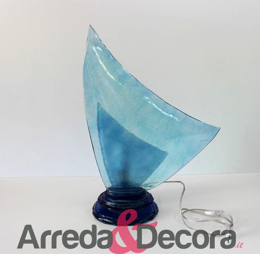 lampada vela blu