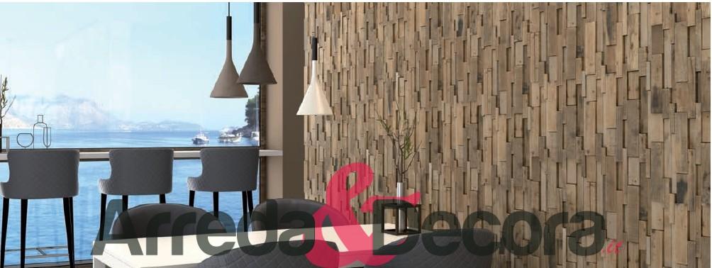mosaico in legno naturale